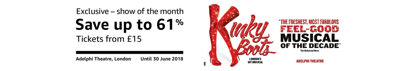 Kinky Boots Show of the Month on Amazon Tickets