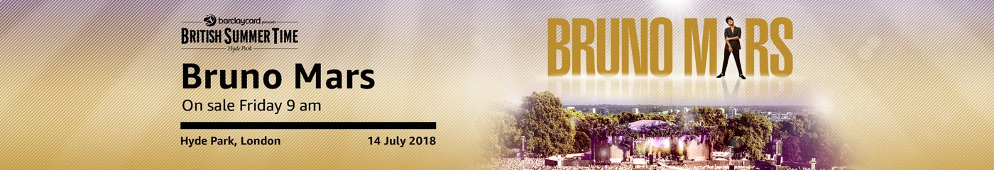 Bruno Mars BST  on Amazon Tickets