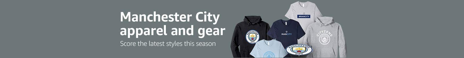 Manchester City apparel and gear