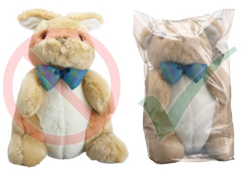 packaging plush toys