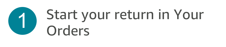 1. Start your return in Your Orders