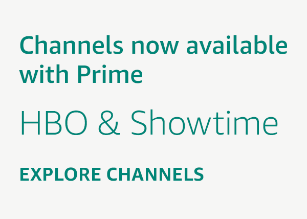 Channels now available with Prime