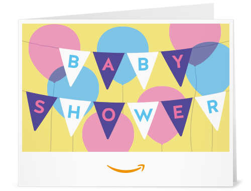 Amazon.com: Amazon Gift Card - Print - Baby Shower Banner