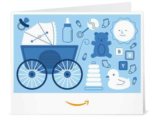 Amazon Gift Card - Print - Baby Icons Blue