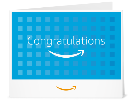 Amazon Gift Card - Print - Congratulations (Squares)