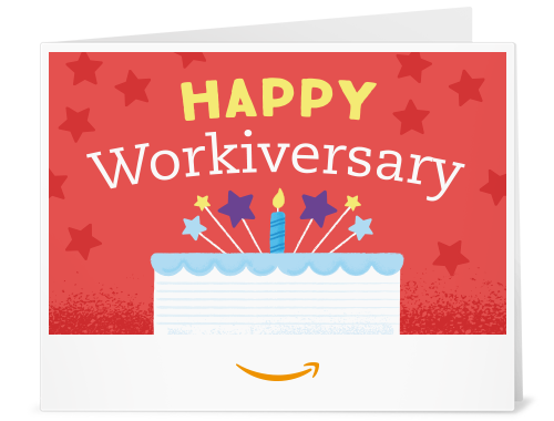 Amazon.com: Amazon Gift Card - Print - Happy Workiversary