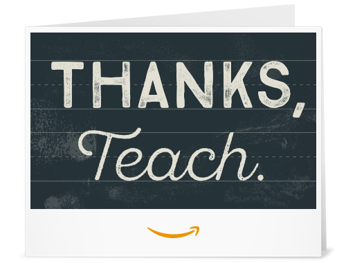 Amazon.com: Amazon Gift Card - Print - Thank You Teacher