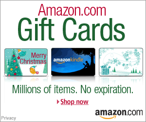 Shop Amazon - Holiday Gift Cards - Instant Delivery or Free One-Day Shipping