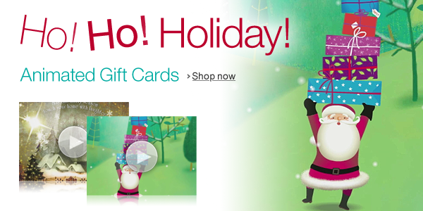 Animated Holiday Gift Cards
