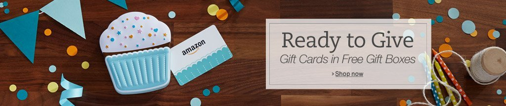 Amazon Gift Cards in Free Gift Boxes