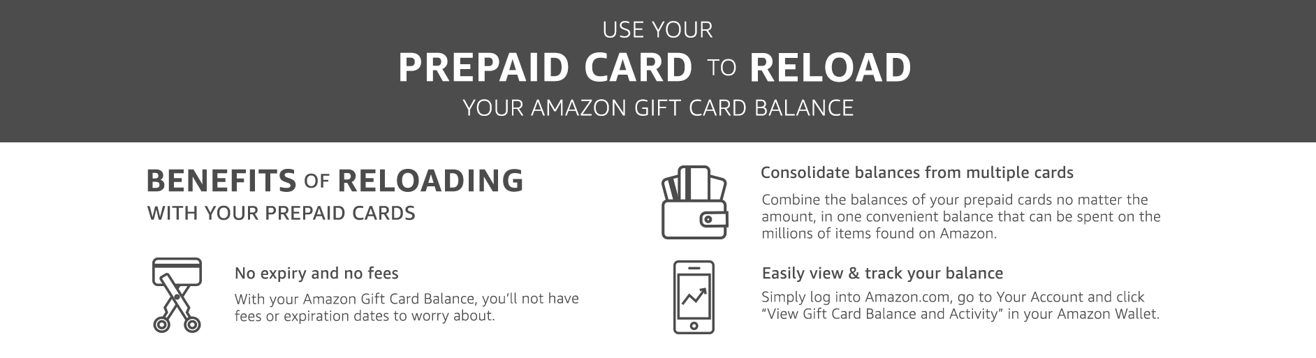 Redeem a Gift Card. Once applied to your Amazon account, the entire amount will be added to your gift card balance. Your gift card balance will be applied automatically to eligible orders during the checkout process and when using 1-Click.