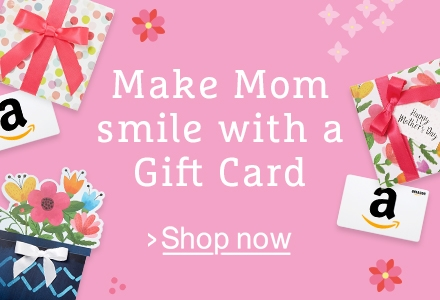 Mother's Day Gift Cards -- eGift Cards, print at home, or mail with Free One-Day Shipping in a greeting card or gift box