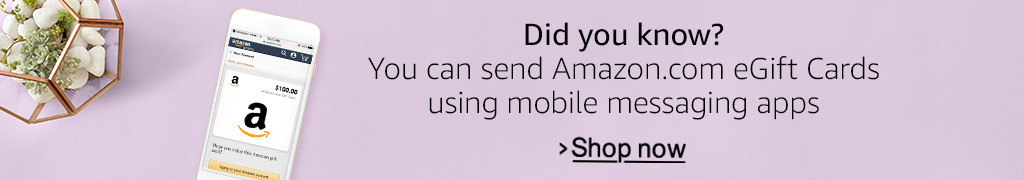 Did you know you can send Amazon.com egift cards by mobile messaging apps?