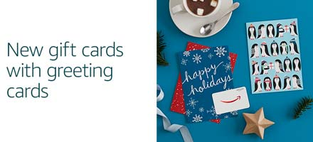 New gift cards with greeting cards