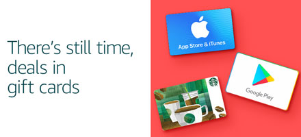 There's still time, deals in gift cards