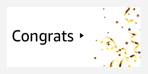 Amazon - Congratulations Gift Cards starting at just $1
