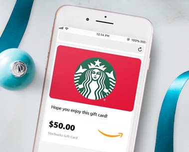 Save up to 20% on select gift cards