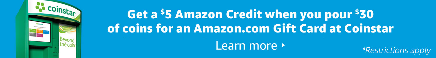 Get a $5 Amazon Credit when you add $30