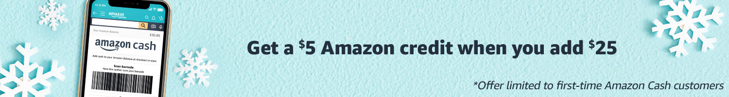 Get a $5 Amazon Credit when you add $25