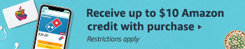 Receive up to $10 Amazon credit with purchase