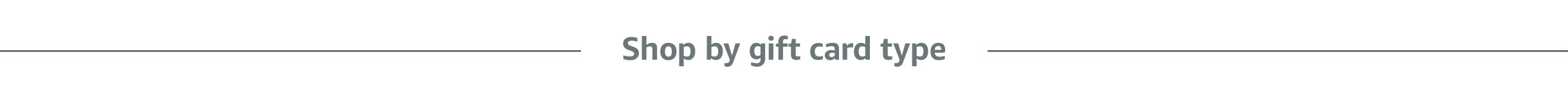 Shop by gift card type