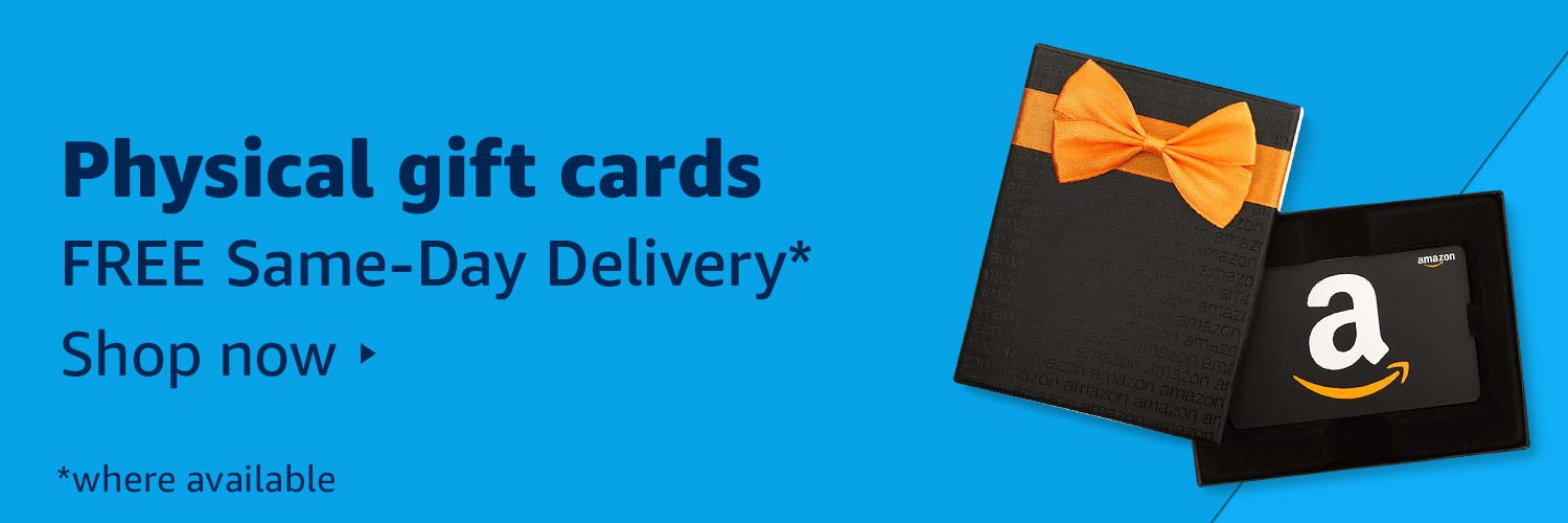 Physical gift cards FREE Same-Day Delivery
