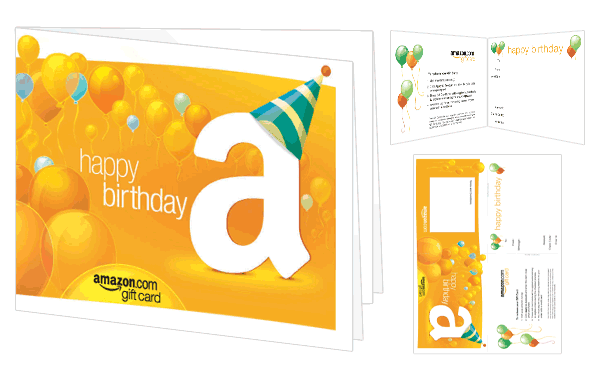 picture regarding Amazon Gift Card Printable called : Amazon Present Card - Print - Delighted Birthday (Cake