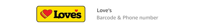 Love's | Barcode & Phone number
