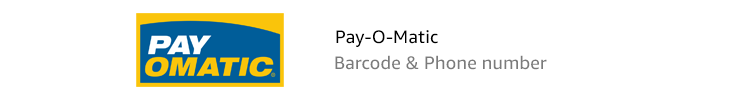 Pay-O-Matic | Barcode & Phone number