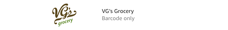 VG's Grocery | Barcode only