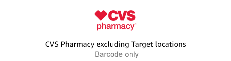 CVS Pharmacy - Excluding Target Locations | Barcode only