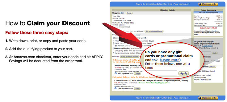 Amazon Gift Cards Or Promotional Codes