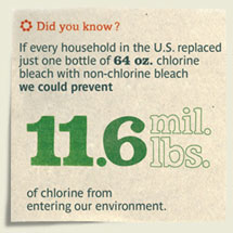 Non-chlorine bleach does not leach the toxins of chlorine based bleach.