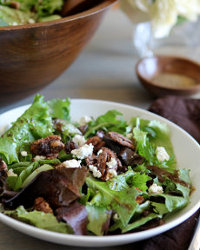 valdosta Pecans on a green salad