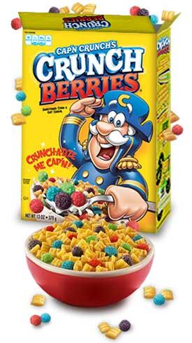 Amazon.com: Cap'N Crunch's Crunch Berries, 18.7-Ounce Boxes (Pack ...