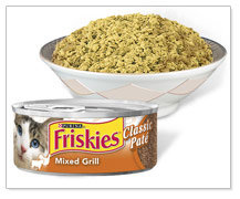 Friskies Cat Food Classic Pate, Mixed Grill
