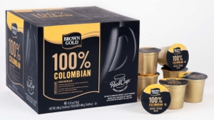 Brown Gold 100% Colombian Coffee Capsules