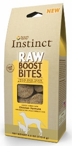 Instinct Raw Boost Chicken Bites.