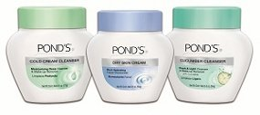 Pond's cream cleansers.