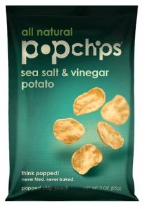 Bag of Sea Salt and Vinegar Popchips