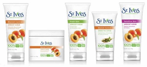 St. Ives complete range of facial care.