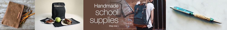 Handmade school supplies