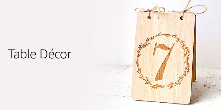 Amazon wedding dcor handmade products signs dining wedding table decor junglespirit Image collections
