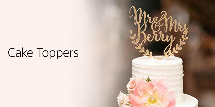 Amazon wedding dcor handmade products signs dining wedding cake cupcake toppers junglespirit Choice Image