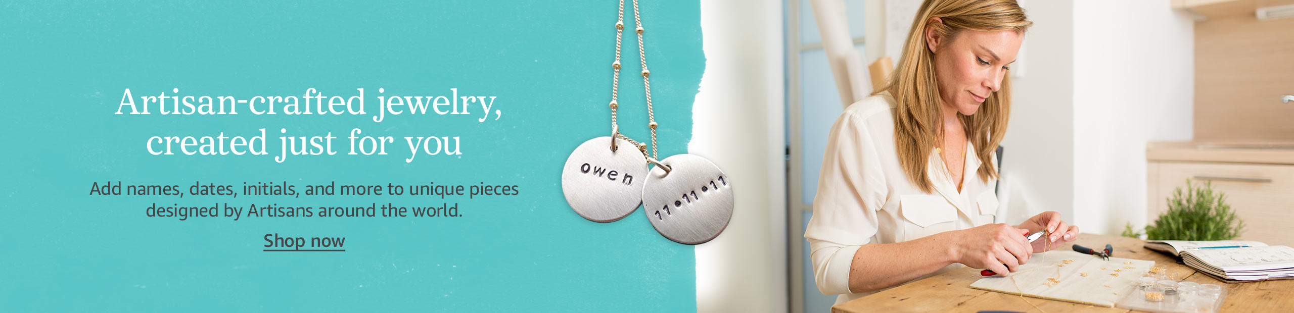 Amazon Handmade   Personalized Jewelry