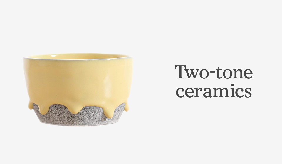 Shop two-toned ceramics