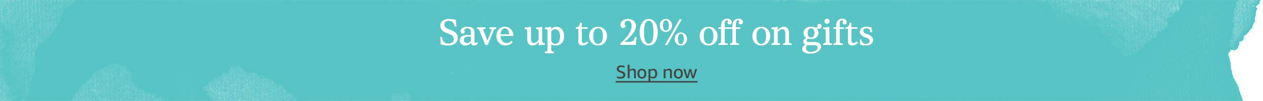 Save up to 20% off on gifts