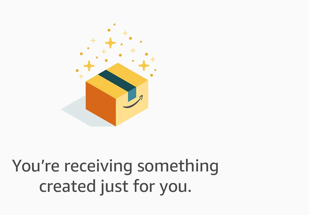 You're receiving something created just for you