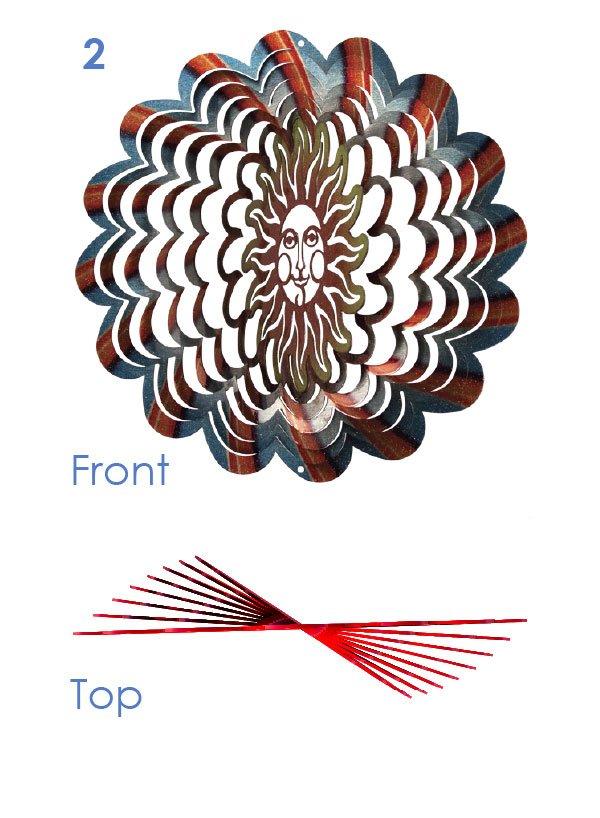 Amazon.com: Iron Stop D281-10 Designer Vortex Splash Wind ...