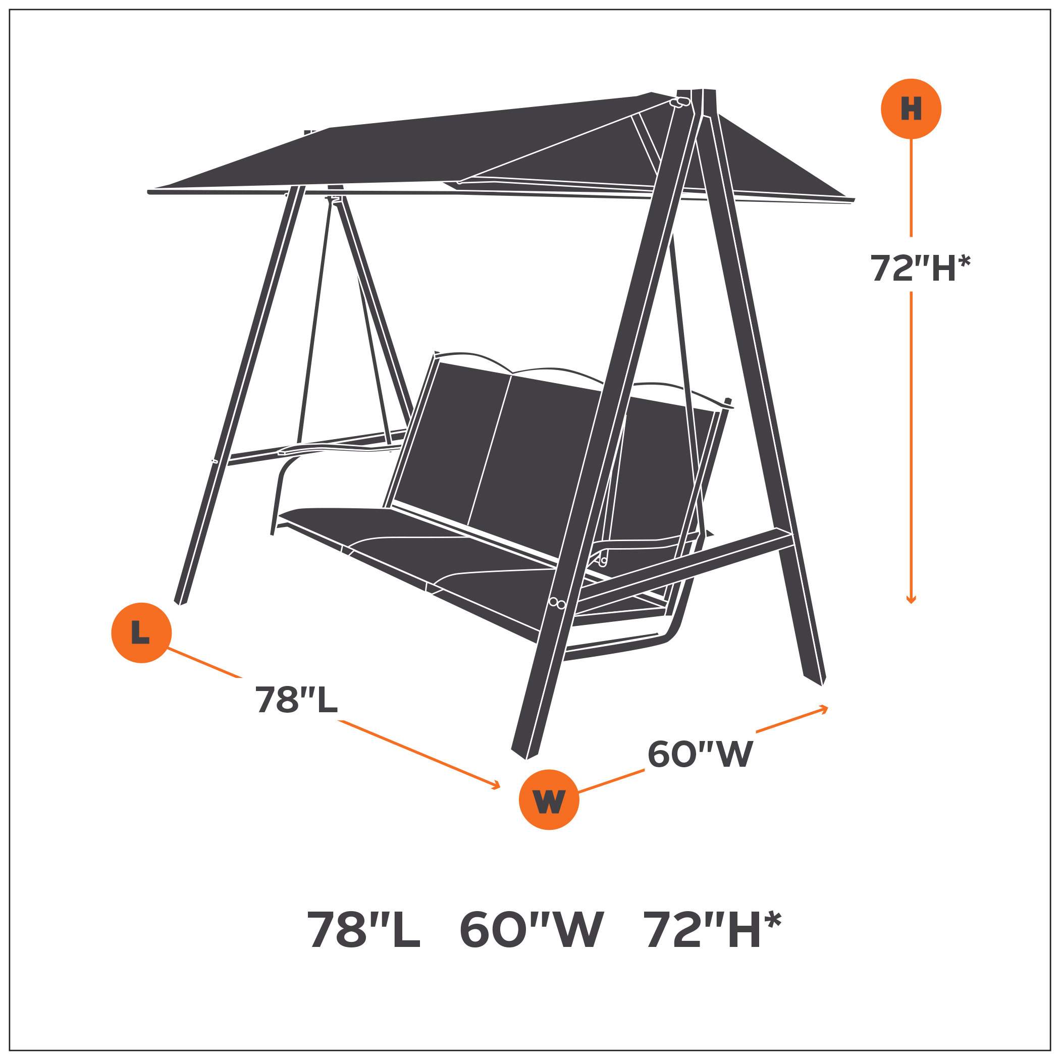Outdoor Swing Parts : Amazon classic accessories ravenna canopy swing cover